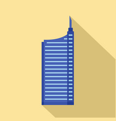 sky building icon flat style vector image