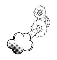 Smoke pop art style vector