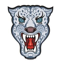 Snow Leopard vector image