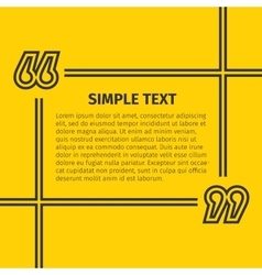 Square quote text bubble vector