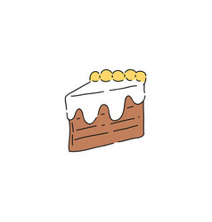 sweet peace chocolate cake drawing vector image