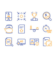 Teapot technical algorithm and search file icons vector