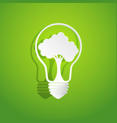 Tree in light bulb shape vector