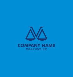 Unique attorney and law logo template vector