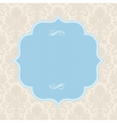 vector pastel ornate blue frame vector image