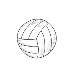 Volleyball ball sketch icon vector image