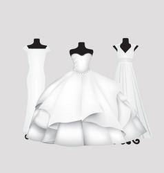 wedding saloon dresses vector image