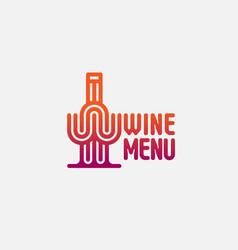 wine menu label vector image