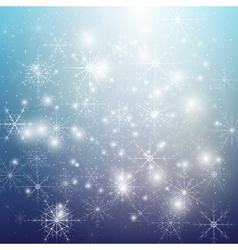 Winter background with snowflakes abstract vector