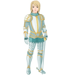 young knight vector image