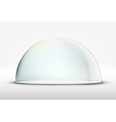 glass dome on white background vector image