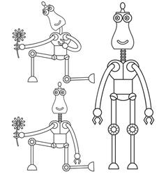 Robot in love vector image vector image
