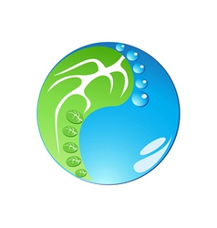 eco footprint in tai chi form vector image
