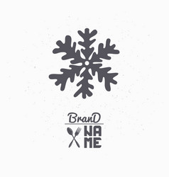 hand drawn silhouette of snowflake vector image
