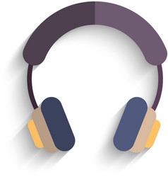 Headphones Flat Design isolated on white vector image