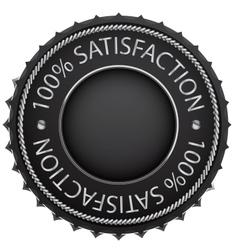 black satisfaction label vector image