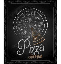 chalkboard pizza vector image vector image