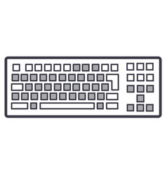 detailed keyboard line icon sign vector image