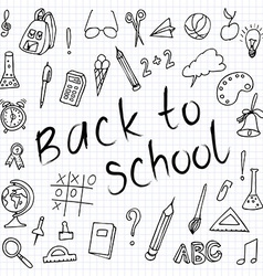 Hand drawn back to school doodles Paper Background vector image