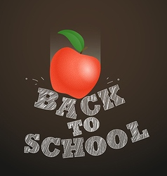 Back to school concept Falling apple to the vector image vector image