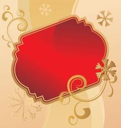 christmas scroll vintage vector image