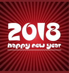 happy new year 2018 on red stripped background vector image vector image