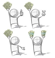 Simple People Money vector image