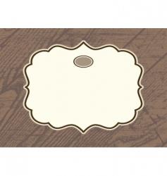 wood background frame vector image vector image