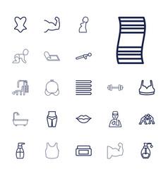 22 body icons vector