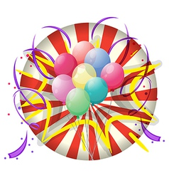 A spinning wheel with balloons at the center vector