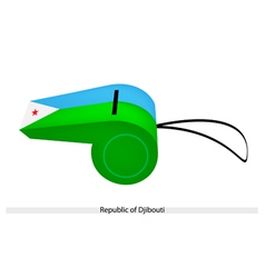 A Whistle of The Republic of Djibouti vector