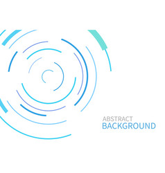 abstract background with color circle line vector image