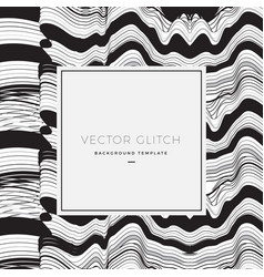 Abstract glitch background card or banner vector