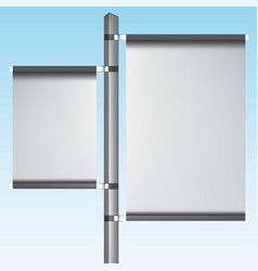 ads silver post pos poi outdoor 3d vertical vector image