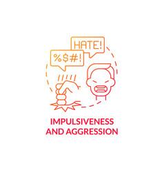 Aggressive and impulsive behaviors concept icon vector