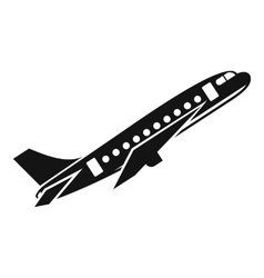 Aircraft icon simple style vector