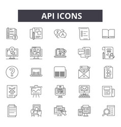 api line icons for web and mobile design editable vector image