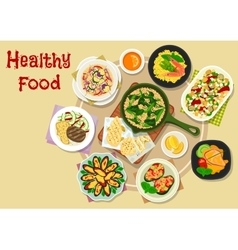 Appetizing meal icon for lunch menu design vector image