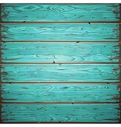 Aquamarine Old Wooden Painted Wall vector