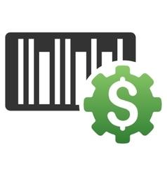 Barcode Setup Gradient Icon vector image