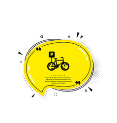 bicycle parking icon bike park sign vector image