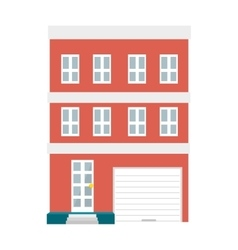 big building isolated icon vector image