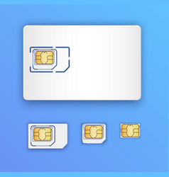 blank realistic sim card set sim cards full vector image