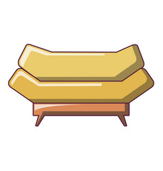 Brand sofa icon cartoon style vector