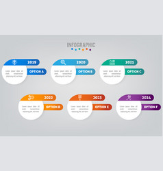 Business infographic labels template with option vector