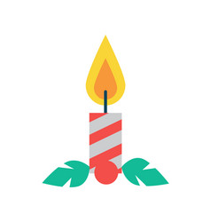 candle of red color christmas vector image