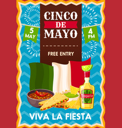 cinco de mayo holiday poster vector image