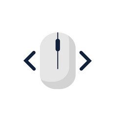 click right left computer mouse icon symbol flat vector image