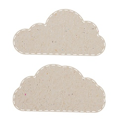 Cloud recycled paper craft on white paper vector