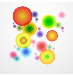 Colorful Abstract Circle Background vector image